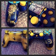 Custom 'Fallout Vault-Boy' Inspired PS4 by NebulaCustomGaming