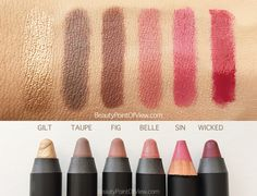 Nudestix Eye and Lip & Cheek Pencils. Review & swatches #makeup #beauty #nudestix