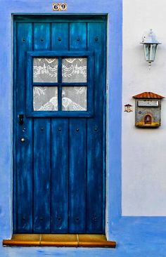 Alentejo, Portugal - JUST GORGEOUS!! - LOVING THIS AMAZING BRIGHT BLUE DOOR, IT IS SO WELCOMING!!