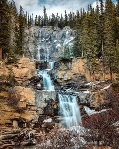 🇨🇦 Tangle Falls on the Icefields Parkway (Jasper, Alberta) by Dan Schykulski Photography (@danschyk) on Instagram Beautiful Waterfalls, Beautiful Landscapes, Jasper National Park, National Parks, Places Around The World, Around The Worlds, Amazing Photography, Nature Photography, Jasper Canada