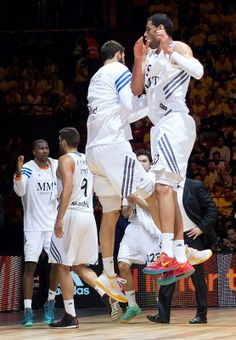Salah Mejri, basketball player of Real Madrid Baloncesto (on the right) was wearing Nike Kobe 8 Year of the Horse during Euroleague semifinal match against Barcelona Baloncesto 16.5.2014