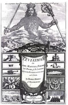 """(Public Domain) Leviathan by Thomas Hobbes - """"Influential century argument for the administration of government to be entrusted to one rather than many"""" (Frontispiece of """"Leviathan,"""" by Abraham Bosse, with input from Hobbes. Vacation Ideas, Vacation Travel, Art Du Temps, Thomas Hobbes, Politisches System, Social Contract, By Any Means Necessary, Merian, Title Page"""