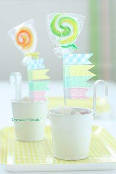 washi tape lollipop