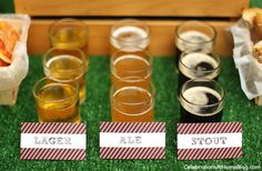 Host a Game Day Beer Tasting party - beer samples