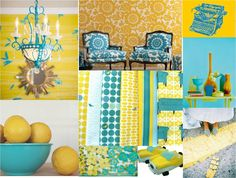 Turquoise and lemon...love these colors together!