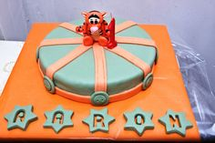 Tarta Tigger decorada con fondant / Tigger cake