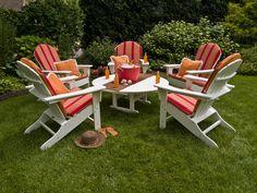 Polywood Adirondack Chairs, Adirondack Furniture, Plastic Adirondack Chairs, Polywood Outdoor Furniture, Outdoor Furniture Sets, Kids Furniture, Furniture Decor, Modern Furniture, Outdoor Chairs