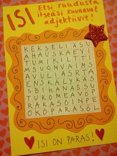 Kuvahaun tulos haulle sanasokkelo Fall Crafts, Decor Crafts, Diy And Crafts, Crafts For Kids, Fathers Day Crafts, Mother And Father, Craft Work, Diy Cards, Art For Kids