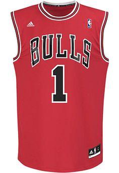 adidas Men's Derrick Rose #1 Chicago Bulls Revolution 30 Red Replica Jersey #giftofsport