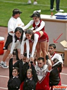 And they say ALL boy cheerleaders are gay, no the straight ones are just smart