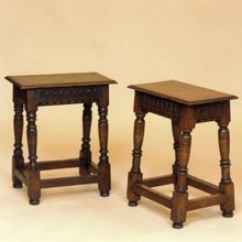 style joined oak stools, designed and made by Stuart Interiors Solid Oak, Oak Chairs, Hand Carved, Carving, Stools, Table, Interiors, Furniture, Design