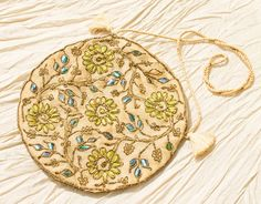 Art Deco Embroidered Beetle Wing by Butterflysue on Etsy Leaf Outline, Gold Work, Silk Road, Vintage Purses, Metallic Thread, Beetles, Shibori, Hand Embroidery, Embellishments