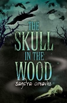 Skull In The Wood by Sandra Greaves. Found in face-out fiction under G. Deep on Dartmoor, cousins Matt and Tilda discover a skull. And from that moment black things happen. Birds and animals turn bad, and there's talk of the return of an old curse.