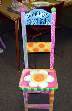 """Painted """"time out"""" chair Dreaming Bear Designs Dori Patrick"""
