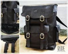 Stone Backpack, main compartmen dimensi 29cm x 45cm x 14cm full genuine leather fullup ruderudayat@yahoo.co.id FB rude rudayat www.rudepride.com Call 0813 95075901 WA 0813 22365446 BBM 5179CA51