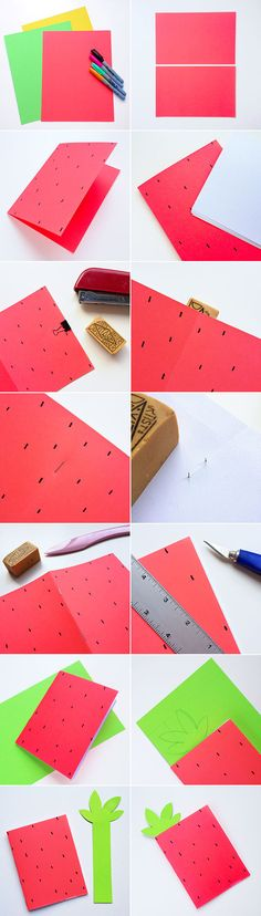 DIY fruit notebooks