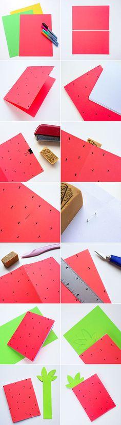 DIY fruit notebooks