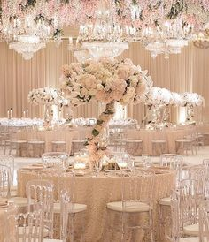 Southern California Bride: Luxurious Blush and Gold Wedding at the Montage Laguna Beach by Details Details Wedding Table Centerpieces, Floral Centerpieces, Reception Decorations, Centrepieces, Candelabra Centerpiece, White Centerpiece, Reception Ideas, Mod Wedding, Floral Wedding
