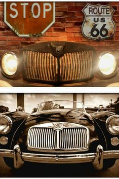 """Check out this awesome authentic 1960s MGA Roadster Grill Rustic Vintage Lamp. Its vintage character has been restored into this awesome """"One of Kind"""" floor lamp. The headlights and grill are illuminated with vintage Edison light bulbs. This Industrial light fixture could be used in many #Edison #Floorlamp #Handmadelighting #Industrial #Lamp #Led #Lightbulb #Lightfixture #Lighting #Lightingdesign #Recycle #Rusticlighting #Vintagelighting"""