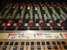 Alex Sipiagin, Bob Sheppard mixing board