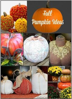Fall Pumpkin Ideas by Between Naps on the Porch.