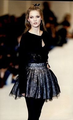1990s model: Kate at a 1994 catwalk show