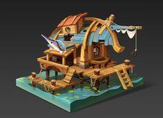 Angler's house, del goni on ArtStation at https://www.artstation.com/artwork/Xz4R0