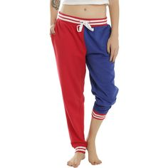 DC Comics Suicide Squad Harley Quinn Property Of Joker Girls Jogger ($22) ❤ liked on Polyvore featuring pants