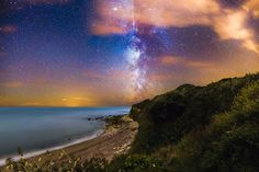 Perseid Meteor Shower Milky Way | Isle of Wight Photography by Chad Powell