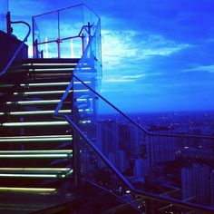 55th floor rooftop bar, Bangkok, Thailand.