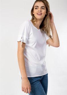 T EKYOG SHIRT TAINA BLANC photo 1 White T, T Shirt, Mens Tops, Women, Fashion, Spring Summer, White People, Supreme T Shirt, Moda