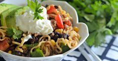 Combine taco night with Top Ramen noodles for an easy and frugal weeknight meal the entire family will enjoy!