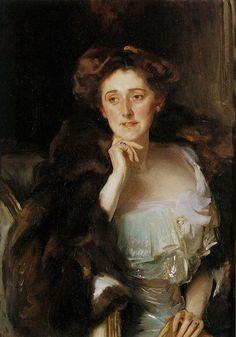 John Singer Sargent (1856-1925) . Frau Marie von Grunelius