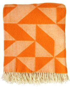 "Twist A Twill Wool Throw  $142 USD  ADD TO CART  Designed By Tina Ratzer for Silkeborg, the Twist a Twill is 100% pure new wool.  Very soft.  Slightly bigger than a standard throw blanket, perfect for two.  Made in Denmark.  51"" x 75"" / 130 x 190 cm"