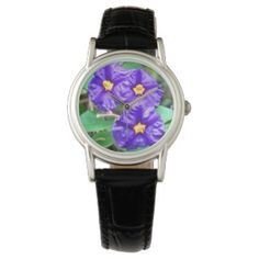 Ladies Watch Purple Flower Photo #zazzle #jewelry #watches #style