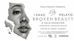 """Courtesy of @overtheedgebook  We be #lit """"Broken  Beauty"""" the first solo show by and #curated  by @isaacpelayo  this is a #solo #exhibition #pizza #art #instagood #streetstyle #faceswap #selfie #webstagram #tags #tagstergramers #igers #tbts #photooftheday #bestoftheday #followbackteam #artistoninstagram #authorsofinstagram #authors #insta #instagram #instapic #streetarteverywhere #galleryopening #artists JUNE 18th #LaunchLa  5413 W. ADAMS  ADJACENT TO @DELICIOUSPIZZAHR @freddy_negrete"""