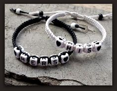 "Couples Bracelets "" His and Hers "" Bracelet Husband Wife Boyfriend Girlfriend "" FREE SHIPPING """