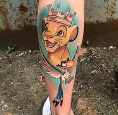 125 awesome Disney tattoo ideas – stay in touch with your kids … - New Tattoo Models Wolf Tattoos, Baby Tattoos, Cute Tattoos, Beautiful Tattoos, Body Art Tattoos, New Tattoos, 90s Baby Tattoo, Tatoos, Walt Disney Tattoos