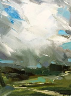 Wes Martin: I always admire artists who can use big brush strokes and paint… Abstract Landscape Painting, Landscape Art, Landscape Paintings, Abstract Art, Contemporary Landscape, Contemporary Paintings, Paintings I Love, Art Plastique, Art Techniques