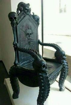 Gothic Skull Chair Check Us Out On Fb  Unique Intuitions #uniqueintuitions # Gothic #
