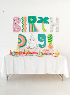 Your child's next birthday bash never looked so good, thanks to these party ideas. Happy Birthday, Birthday Bash, Birthday Celebration, Birthday Parties, Cheap Party Decorations, Kids Party Themes, Birthday Decorations, Party Ideas, Birthday Backdrop