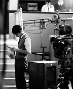 Jimmy Stewart on set, circa 1939