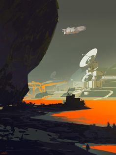 Les mondes de science fiction de Sparth illustration science fiction 09 600x800