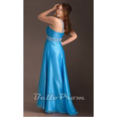 Plus Size Chiffon One Shoulder Dresses A2187 at belloprom.com