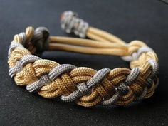 How to Make a Paracord Celtic Bar Bracelet- Mad Max Style Closure- Vikings Style. - How to Make a Paracord Celtic Bar Bracelet- Mad Max Style Closure- Vikings Style Bracelet – YouTu - Paracord Tutorial, Bracelet Tutorial, Bracelet Knots, Paracord Bracelets, Survival Bracelets, Diy Bracelet, Sailor Knot Bracelet, Macrame Colar, Snake Knot