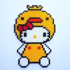 Duck Hello Kitty hama perler beads by Little Miss Productive