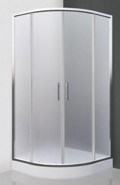 Roltechni Houston Neo je štvrťkruhový sprchovací kút s dvojkrídlovými posuvnými dverami, rozmermi 80 x 80 cm, lesklým chrómovým rámom a sklom matt glass.  Montu Houston, Armoire, Lockers, Locker Storage, Cabinet, Glass, Furniture, Home Decor, Clothes Stand