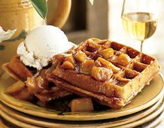 Spiced Waffles with Caramelized Apples Recipe | by Dorie Greenspan