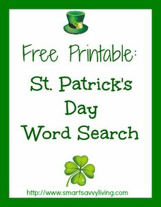 Here's a free printable St. Patrick's Day word search to enjoy with the kids! As I always say, this year keeps on speeding by! Can you believe it's already almost St. Patrick's Day, which means the year is already almost a third of the way over? Yikes! I love the fun spirit of St. Patrick's...Read More »