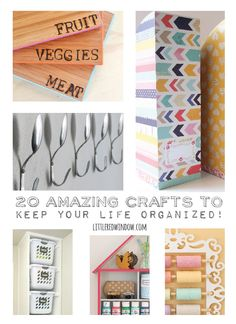These 20 great craft projects curated by Little Red Window will help you get organized!